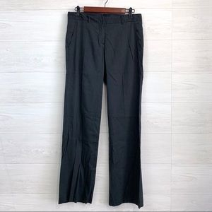 Theory Linen Blend Flat Front Trouser Pants